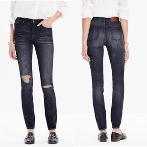 "Madewell 9"" High Riser Skinny Kincaid Wash Jean-25"